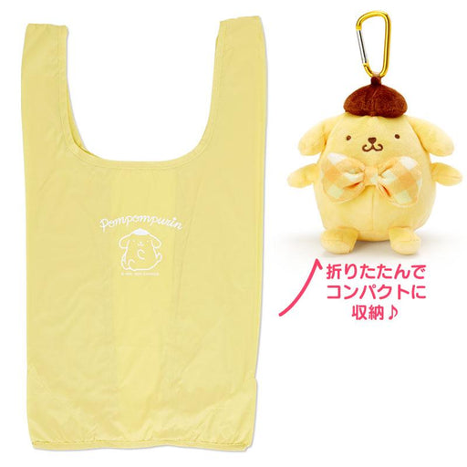 Japan Sanrio - Pompompurin Eco bag with Plush Toy Case