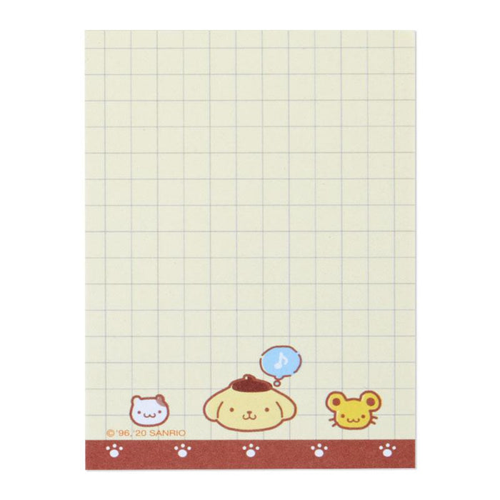 Japan Sanrio - Mini Clipboard & Memo (Mini Face) x Pompompurin