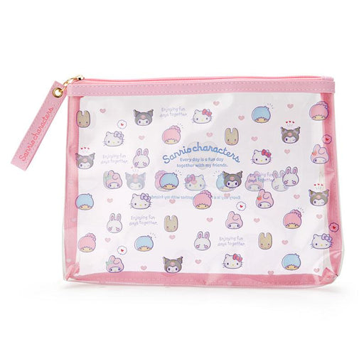 Japan Sanrio -Sanrio Characters A5 Multi Pouch (Mini Face) - Color Pink