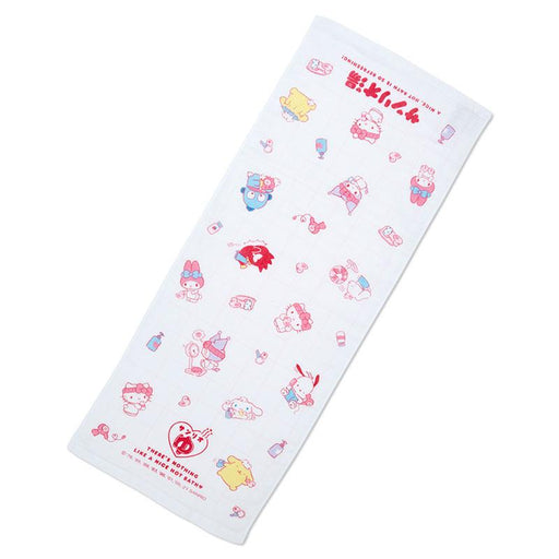 Japan Sanrio - Hot Spring Collection - Sanrio Characters Face Towel