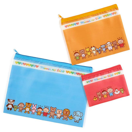 Japan Sanrio - Minna no Tabo x Smile Collection - Flat Pouch Set