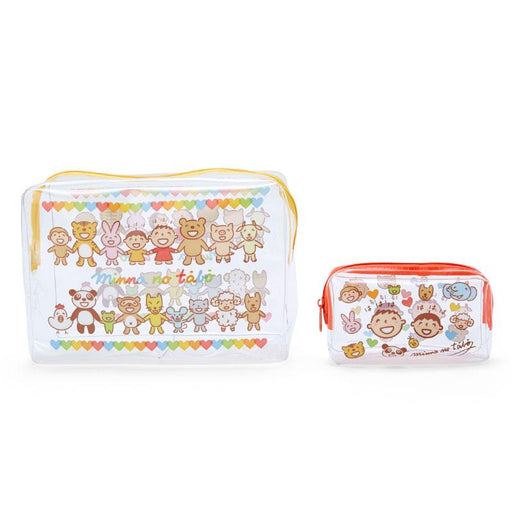 Japan Sanrio - Minna no Tabo x Smile Collection - Clear Pouch Set