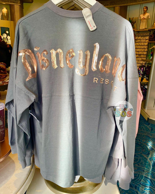 "DLR - ""Disneyland Resort"" Spirit Jersey - Grey with Briar Gold Sequin"