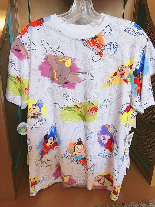 SHDL - All- Printed Disney Ink & Paint Tee (Unisex)