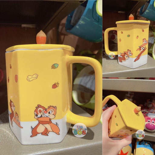 SHDL - Chip & Dale Mug with Lid (Color: Yellow)
