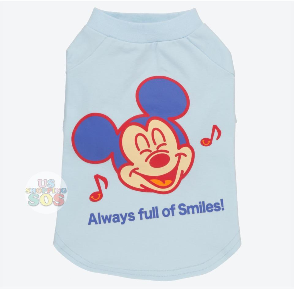 "TDR - Dog T-Shirts Apparel ""Always full of Smiles"" x Mickey Mouse"
