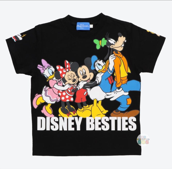 TDR - Mickey & Friends DISNEY BESTIES Collection - Unisex Tee (Color: Black)