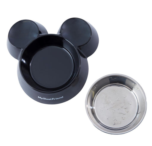 TDR - Mickey Mouse Head Shaped Pet Bowl (Color: Black)