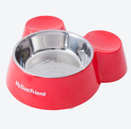 TDR - Mickey Mouse Head Shaped Pet Bowl (Color: Red)