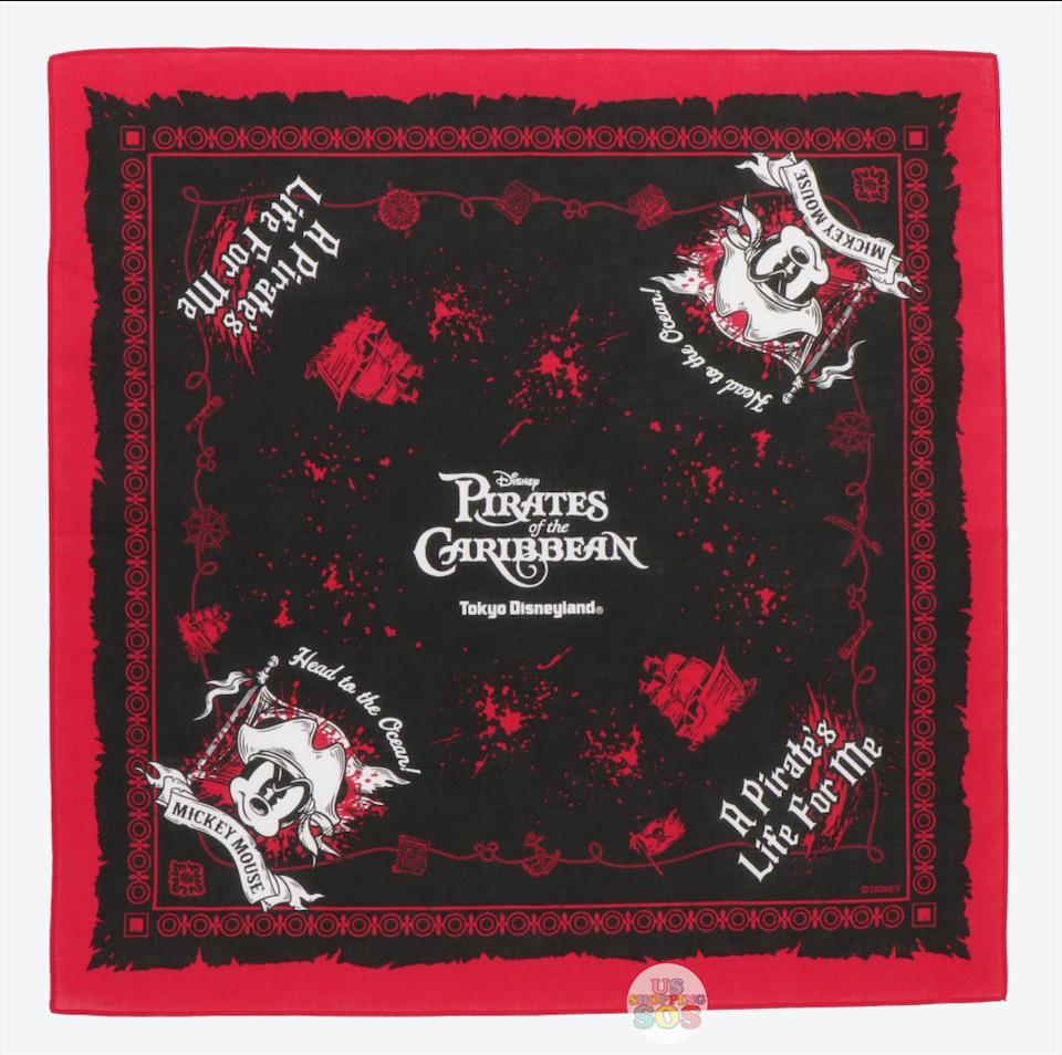 "TDR - ""Disney Pirates of the Caribbean"" Collection - Bandana x Mickey Mouse"