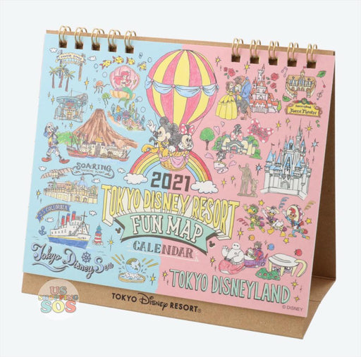 TDR - Schedule Book & Calendar 2021 Collection - Tokyo Disney Resort Fun Map Calendar 2021