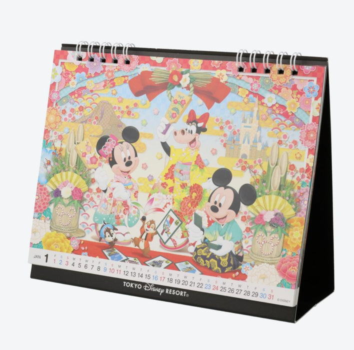 TDR - Schedule Book & Calendar 2021 Collection - TOKYO DISNEY RESORT TABLE CALENDAR 2021