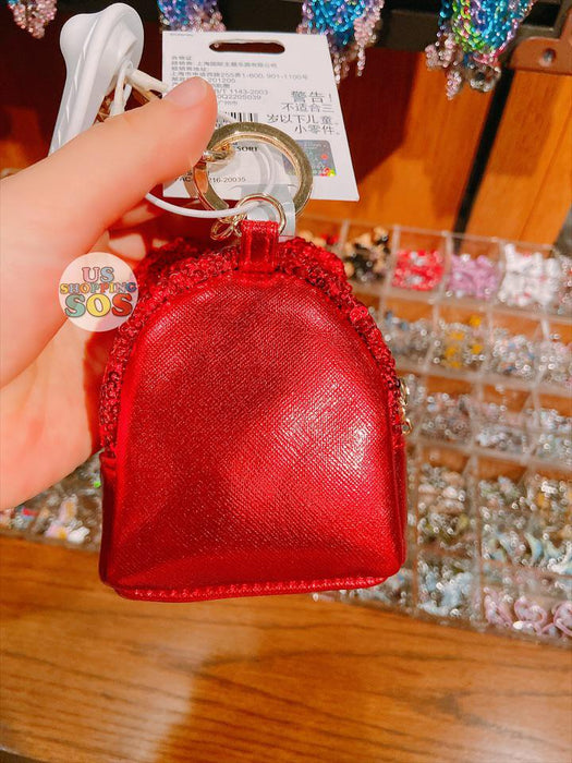 SHDL - Disney Park Sequin Mickey Mouse Ear Backpack Shaped Keychain x Pouch