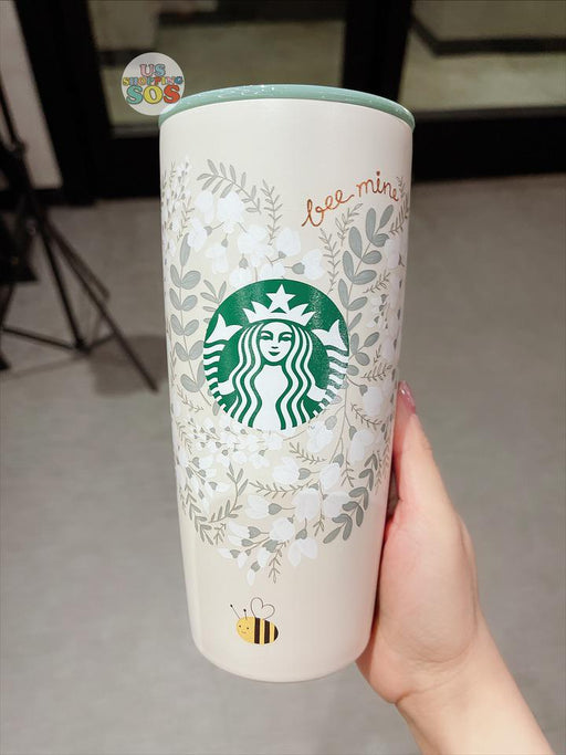 Starbucks Hong Kong - Valentines Bee Mine - Bee with Heart Stainless Steel Tumbler 20oz