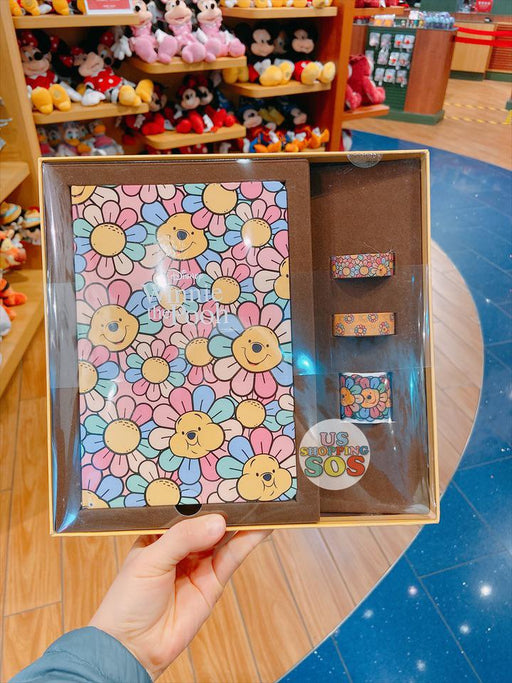 SHDS - Colorful Sunflower x Winnie the Pooh Collection - Note Book & Masking Tapes BoxSet