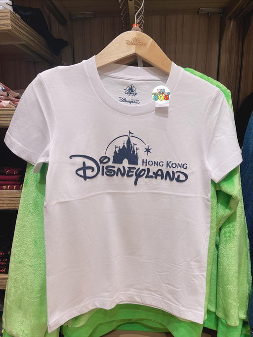 HKDL - Hong Kong Disneyland Wordings (Denim White) Unisex Tee For Adult