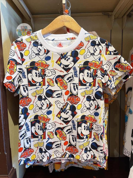 HKDL - Mickey Mouse Comic All Over Printed Unisex Tee For Adults