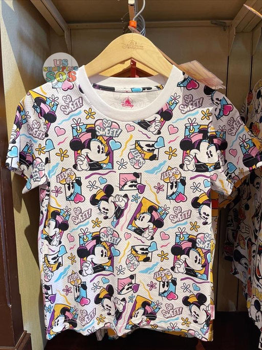 HKDL - Minnie Mouse Comic All Over Printed Unisex Tee For Adults