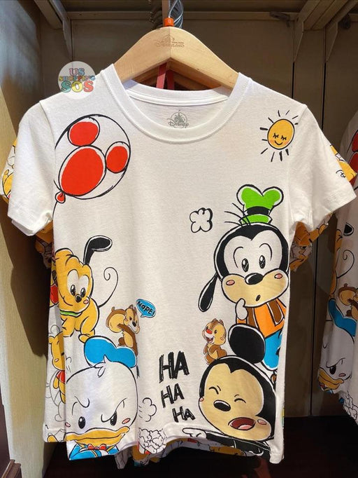 HKDL - Super Cute Mickey & Friends HAHAHA Unisex Tee For Adults
