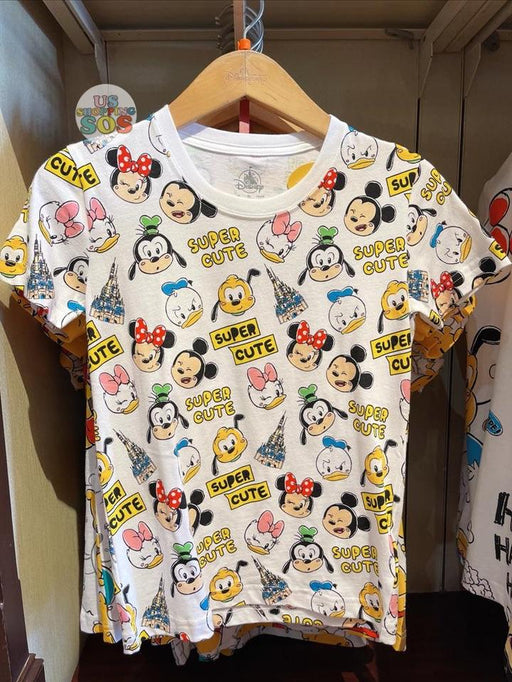 HKDL - Super Cute Mickey & Friends All Over Print Unisex Tee For Adults