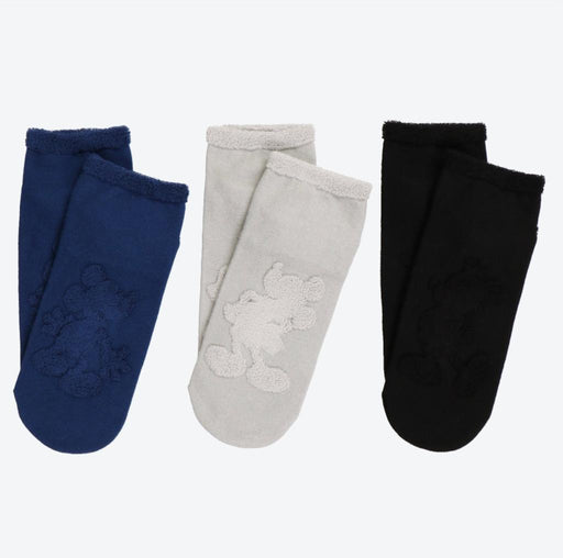 TDR - Silhouette Mickey Mouse 3 Pairs Socks Set for Adults (Size: 22~ 25 cm)