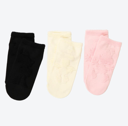 TDR - Silhouette Minnie Mouse 3 Pairs Socks Set for Adults (Size: 22~ 25 cm)