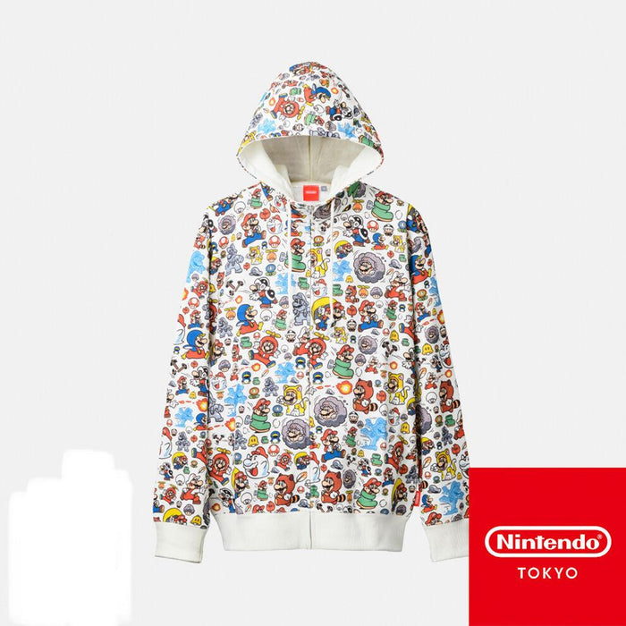 Japan Nintendo - Super Mario All Over Print Zip Jacket for Adults