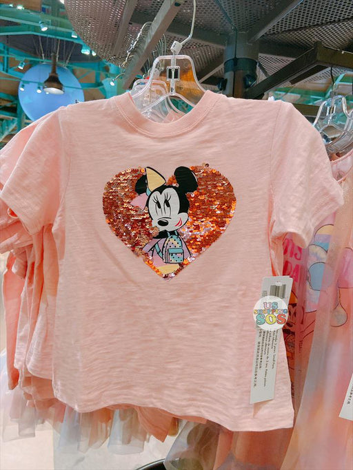 "SHDL - Minnie Mouse ""DOTS FOR DAYS"" Sequin Heart Short Sleeve Tee for Kids"