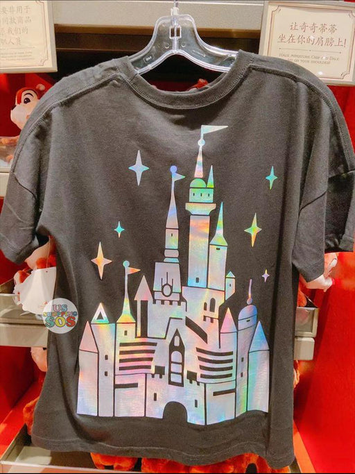 SHDL - Year of Magical Surprise Collection - Shanghai Disney Resort Castle T Shirt for Women (Color: Black)
