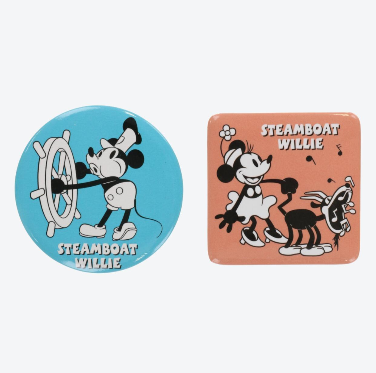 TDR - Button Badges Set - Mickey & Minnie Mouse x Steamboat Willie