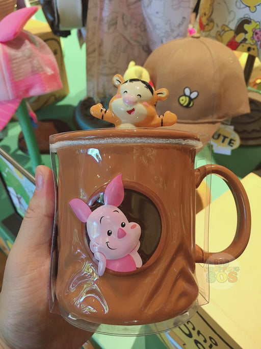 SHDL - Super Cute Winnie the Pooh & Friends Collection - Mug with Lid x Piglet & Tigger