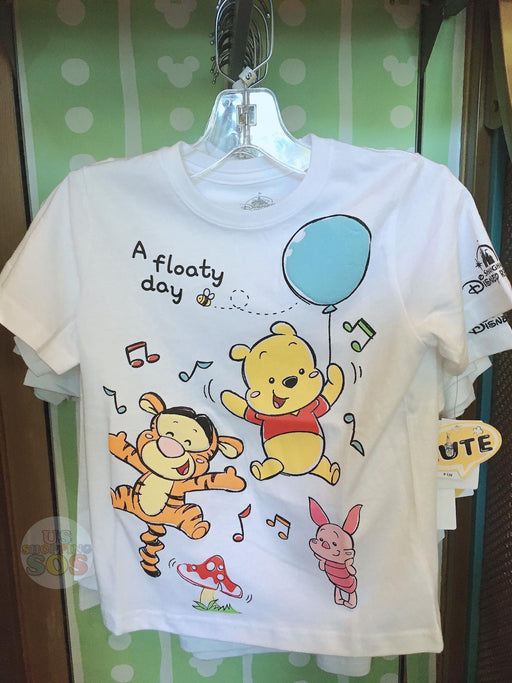 "SHDL - Super Cute Winnie the Pooh & Friends Collection - Unisex Tee for Youth ""A floaty day"""