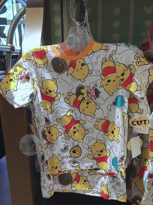 SHDL - Super Cute Winnie the Pooh & Friends Collection - Unisex Tee for Youth All-Over-Print Winnie the Pooh Tee