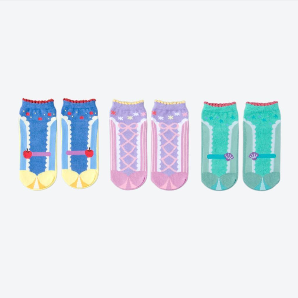 TDR - Snow White, Rapunzel & Ariel Socks Set (Size 22-25 cm)