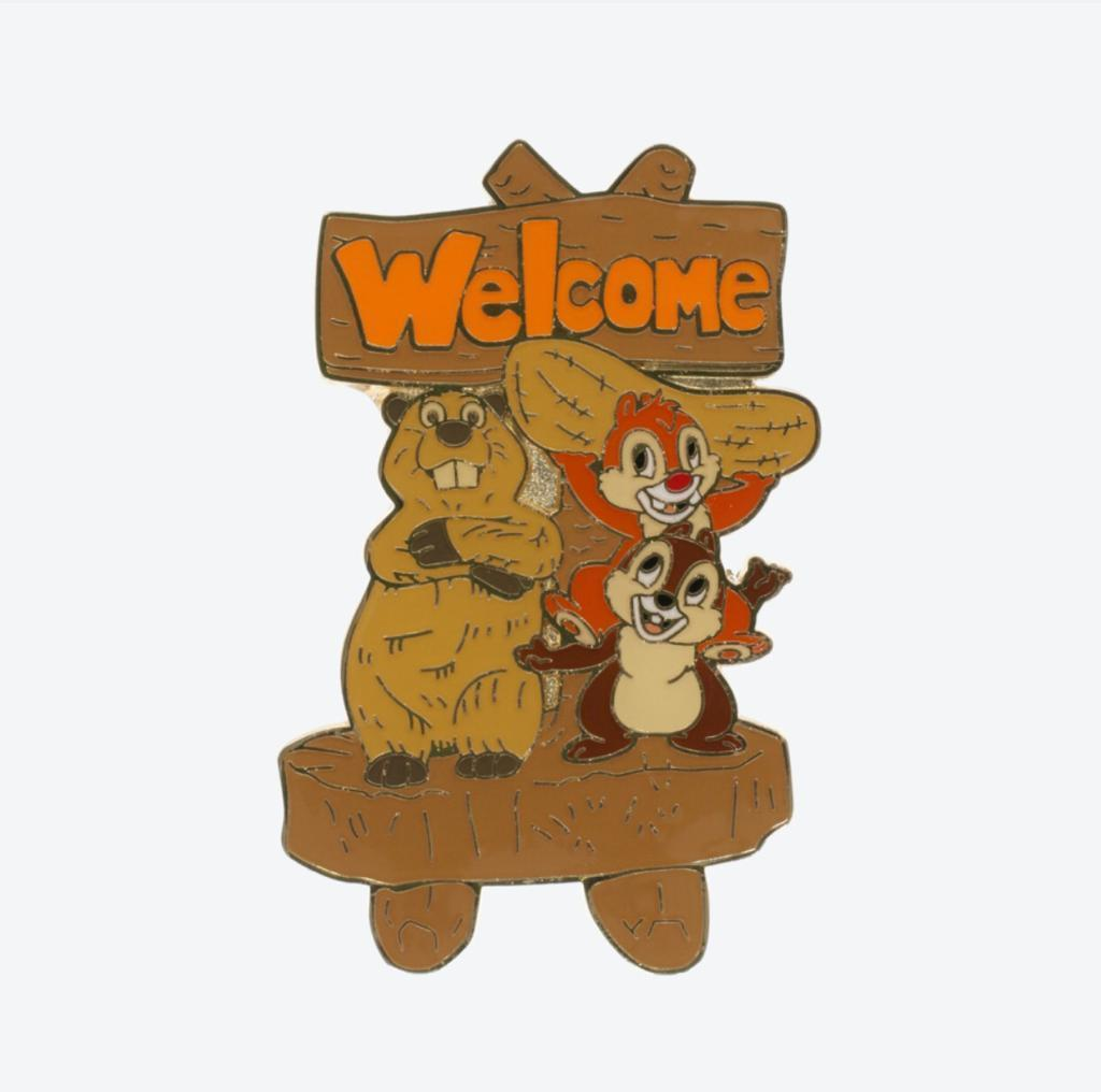 "TDR -  Pin x Chip & Dale ""Welcome"""