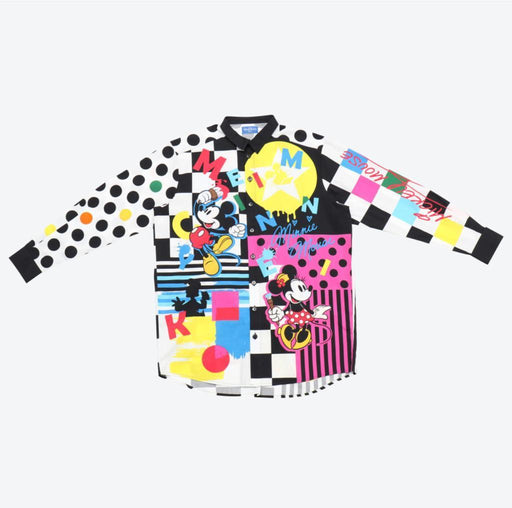 "TDR - ""Patchwork- Like"" Patterns Shirt x Mickey & Friends"