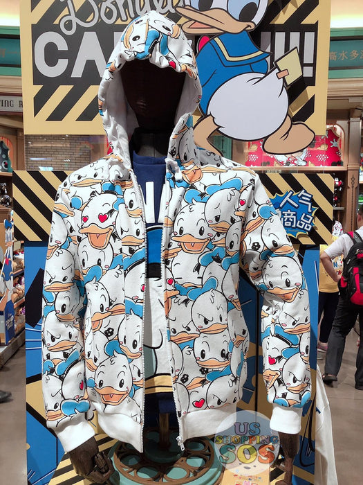 SHDL - All-Over Printed Zip Hoodies - Donald Duck