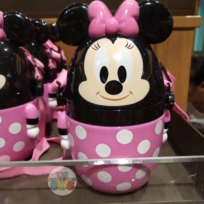 SHDL - Drink Bottle with Straw & Long Strap - Minnie Mouse
