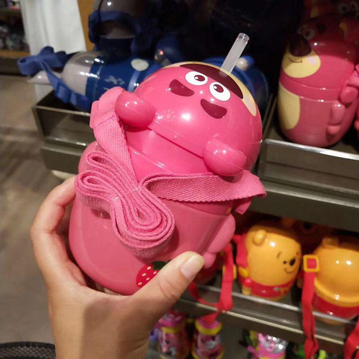 SHDL - Drink Bottle with Straw & Long Strap - Lotso