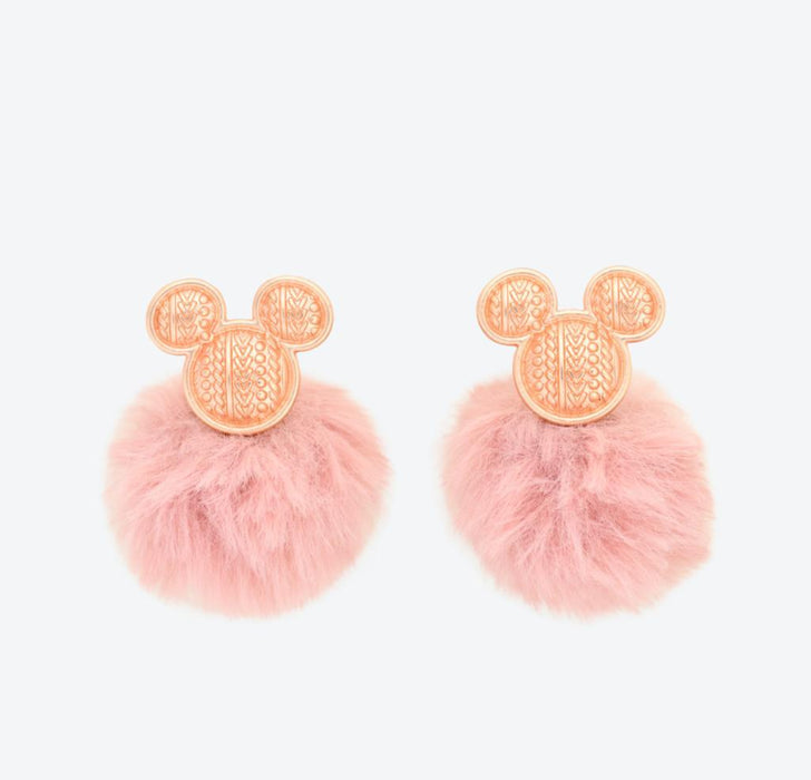 TDR - Pom Pom Ball Earrings x Mickey Mouse (Color: Pink)