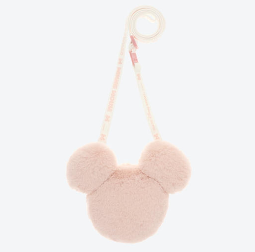 TDR - Crossbody Plush Passholder - Mickey Mouse Head (Color: Pink)