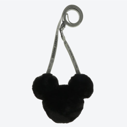TDR - Crossbody Plush Passholder - Mickey Mouse Head (Color: Black)