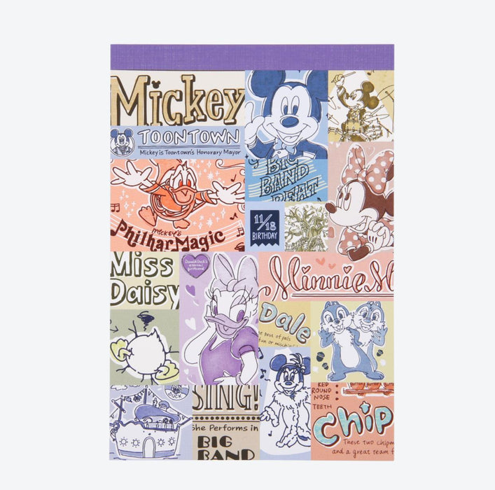 TDR - Watercolor style Mickey & Friends Collection - Note Pad