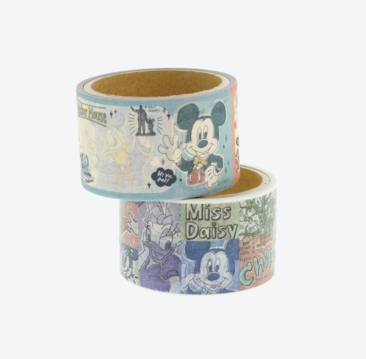 TDR - Watercolor style Mickey & Friends Collection - Masking/Decoration Tapes Set