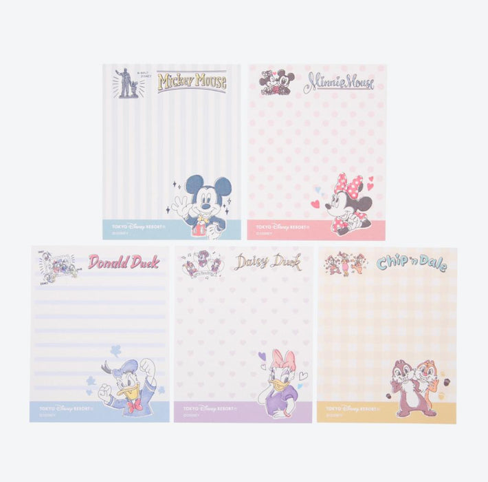 TDR - Watercolor style Mickey & Friends Collection - Memo set