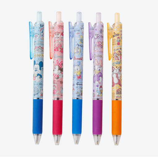 TDR - Watercolor style Mickey & Friends Collection - Ballpoint Pens set