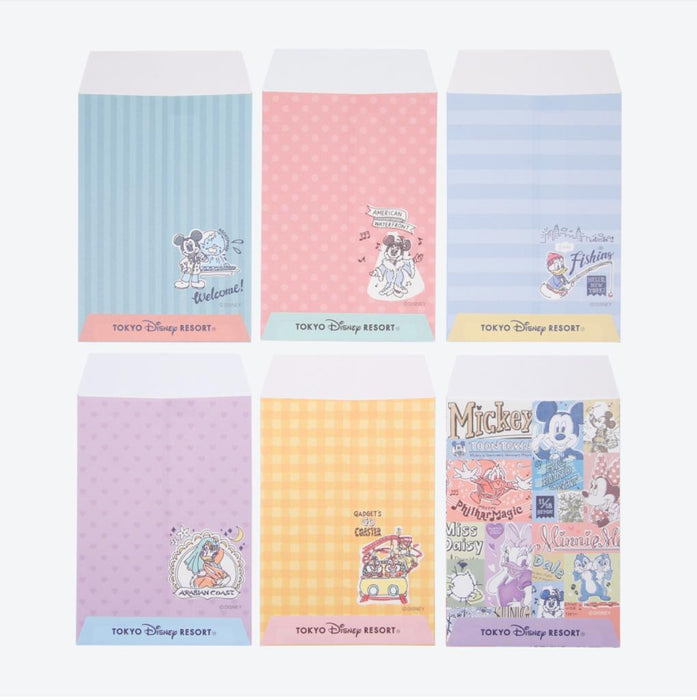 TDR - Watercolor style Mickey & Friends Collection - Envelopes Set
