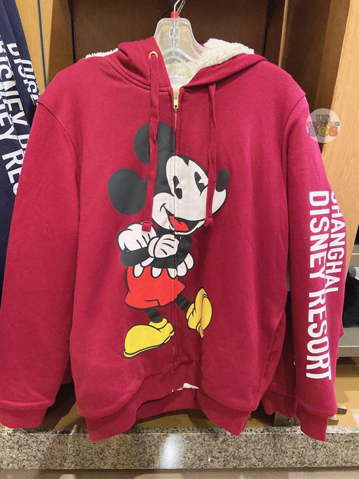 SHDL - Zip Hoodie x Mickey Mouse (Color: Red)