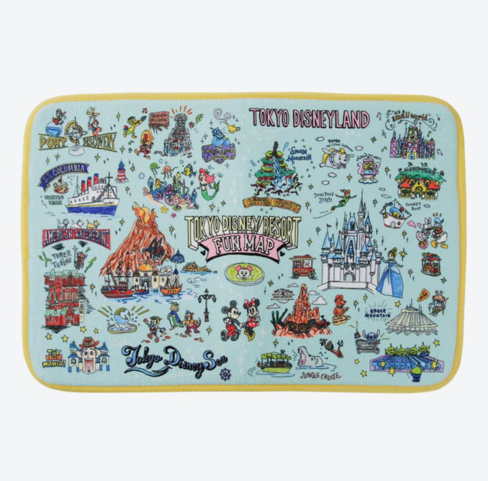TDR - Tokyo Disney Resort Fun Map Collection - Floor Mat