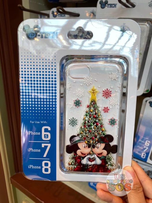 HKDL - Iphone Case x Mickey & Minnie Mouse with Christmas Tree